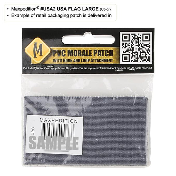 USA FLAG PATCH (LARGE) - MAXPEDITION, Patches, Military, CCW, EDC, Tactical, Everyday Carry, Outdoors, Hiking, Camping, Bushcraft, Gear, Police Gear, Law Enforcement