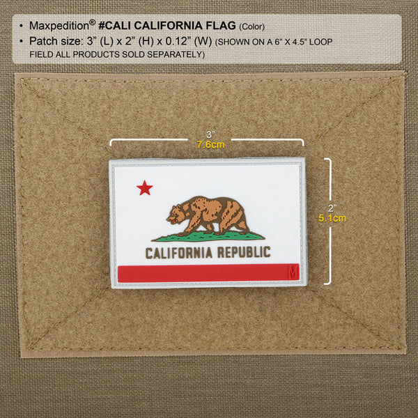 CALIFORNIA FLAG PATCH - MAXPEDITION, Patches, Military, CCW, EDC, Tactical, Everyday Carry, Outdoors, Nature, Hiking, Camping, Bushcraft, Gear, Police Gear, Law Enforcement