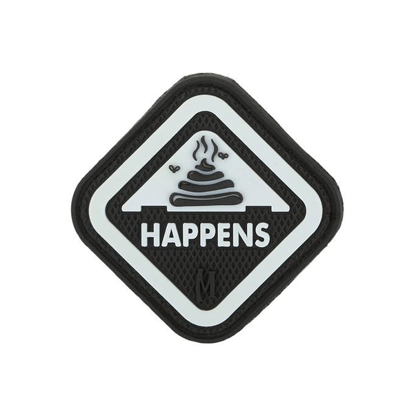 IT HAPPENS PATCH - MAXPEDITION, Patches, Military, CCW, EDC, Tactical, Everyday Carry, Outdoors, Nature, Hiking, Camping, Bushcraft, Gear, Police Gear, Law Enforcement