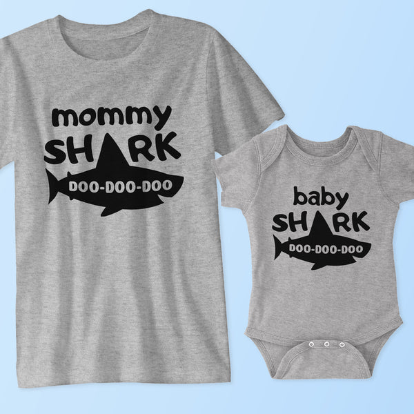 22d85cb4 Mommy Shark & Baby Shark (Matching Shirt Set) - Father and Son T Shirts,  Onesies - Family, Dad, Mom, Baby Outfits Cole & Coddle