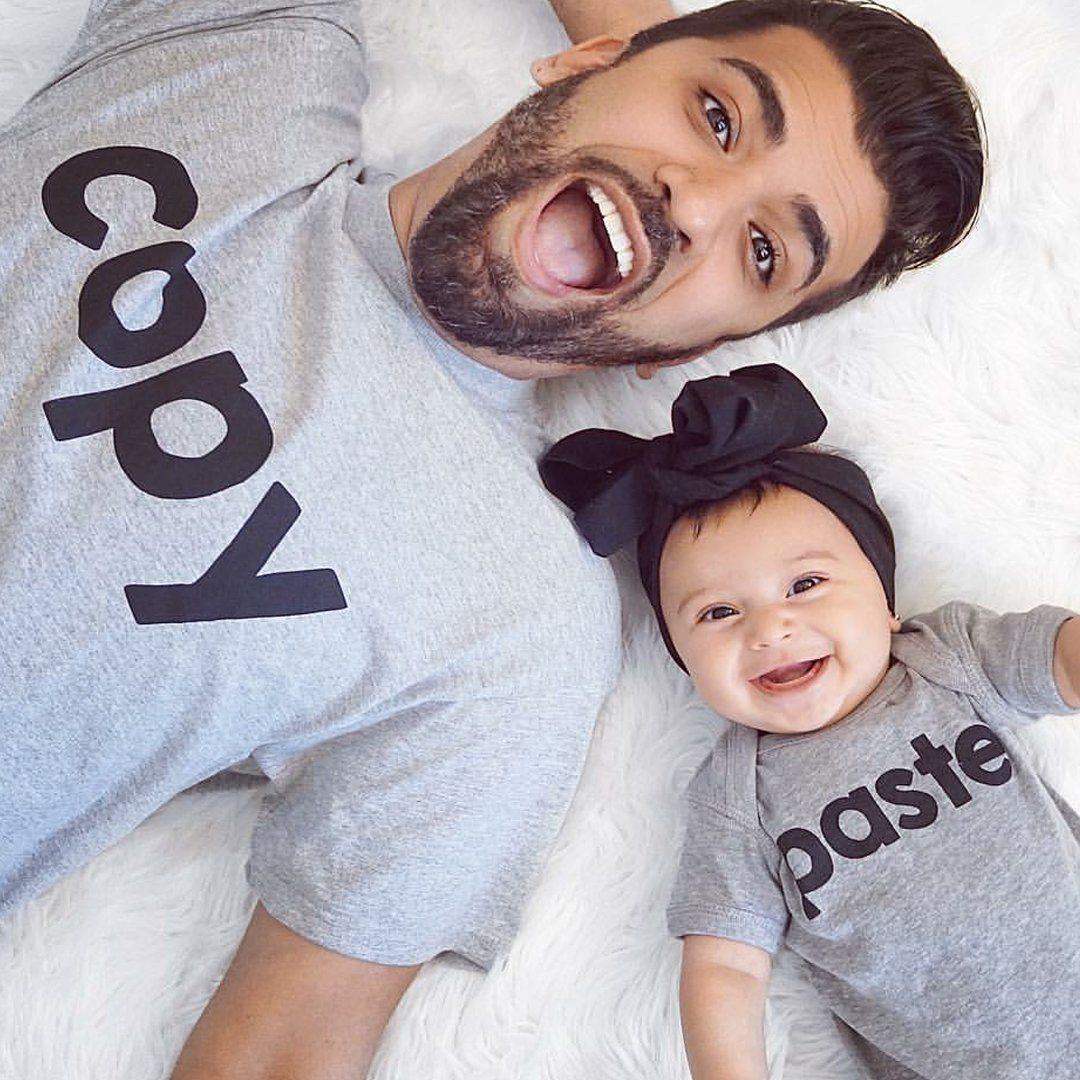 I Love My Daughter and Daddy Matching Shirt Set