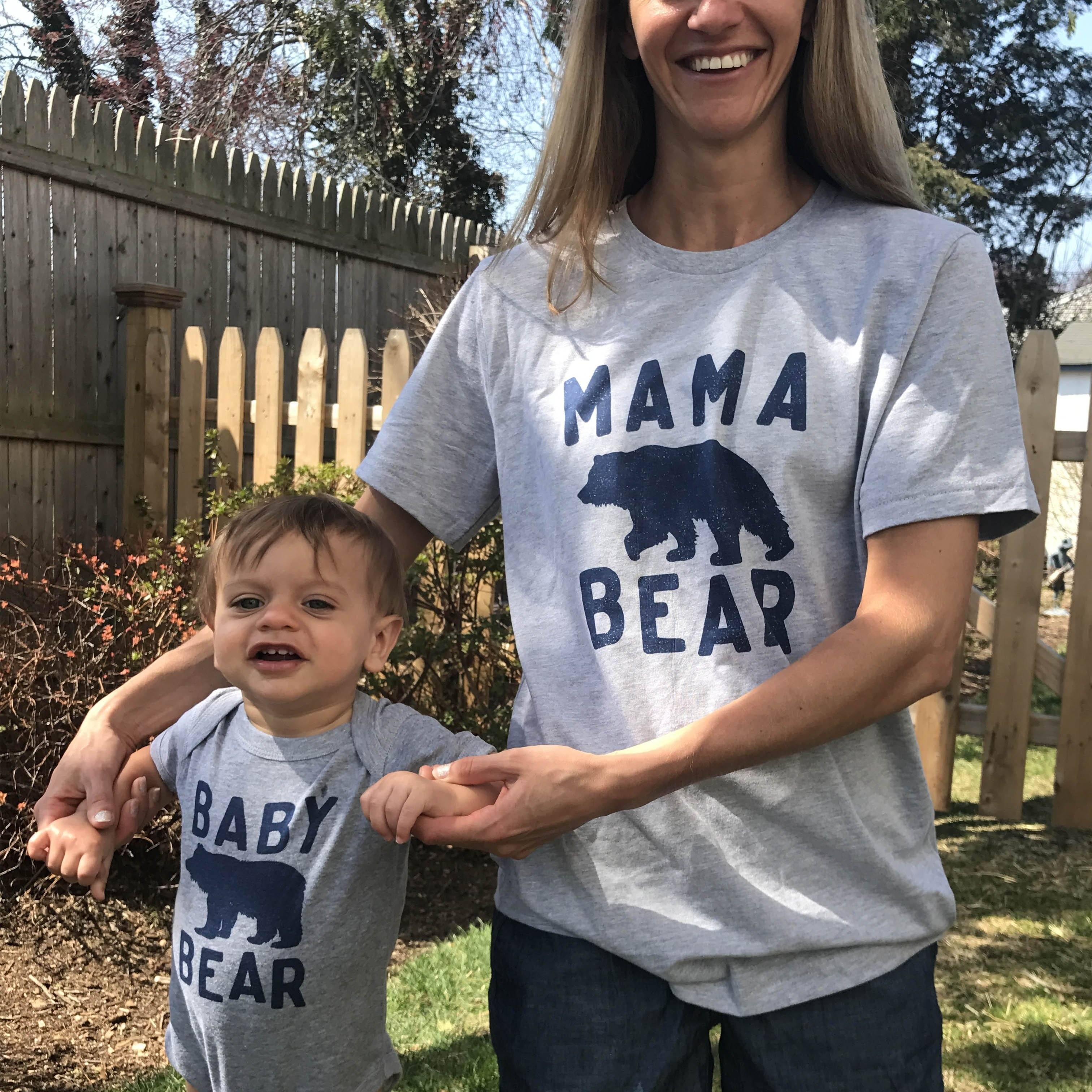 Mama Bear and Baby Bear Mom Matching Sets Father and Son T
