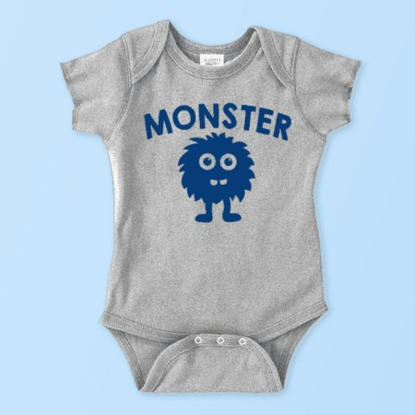 4203af5d0 Monster (Additional Baby Onesie & Toddler/Youth Tees) Easton Prints Clothing  Set