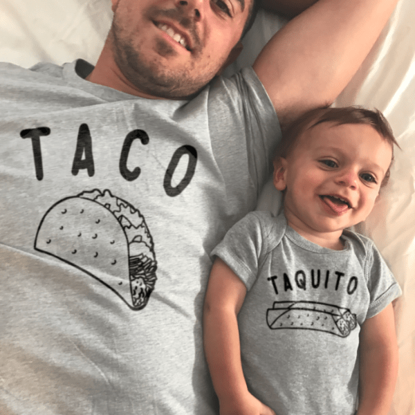 Taco Taquito Matching Set Father And Son T Shirts Onesies