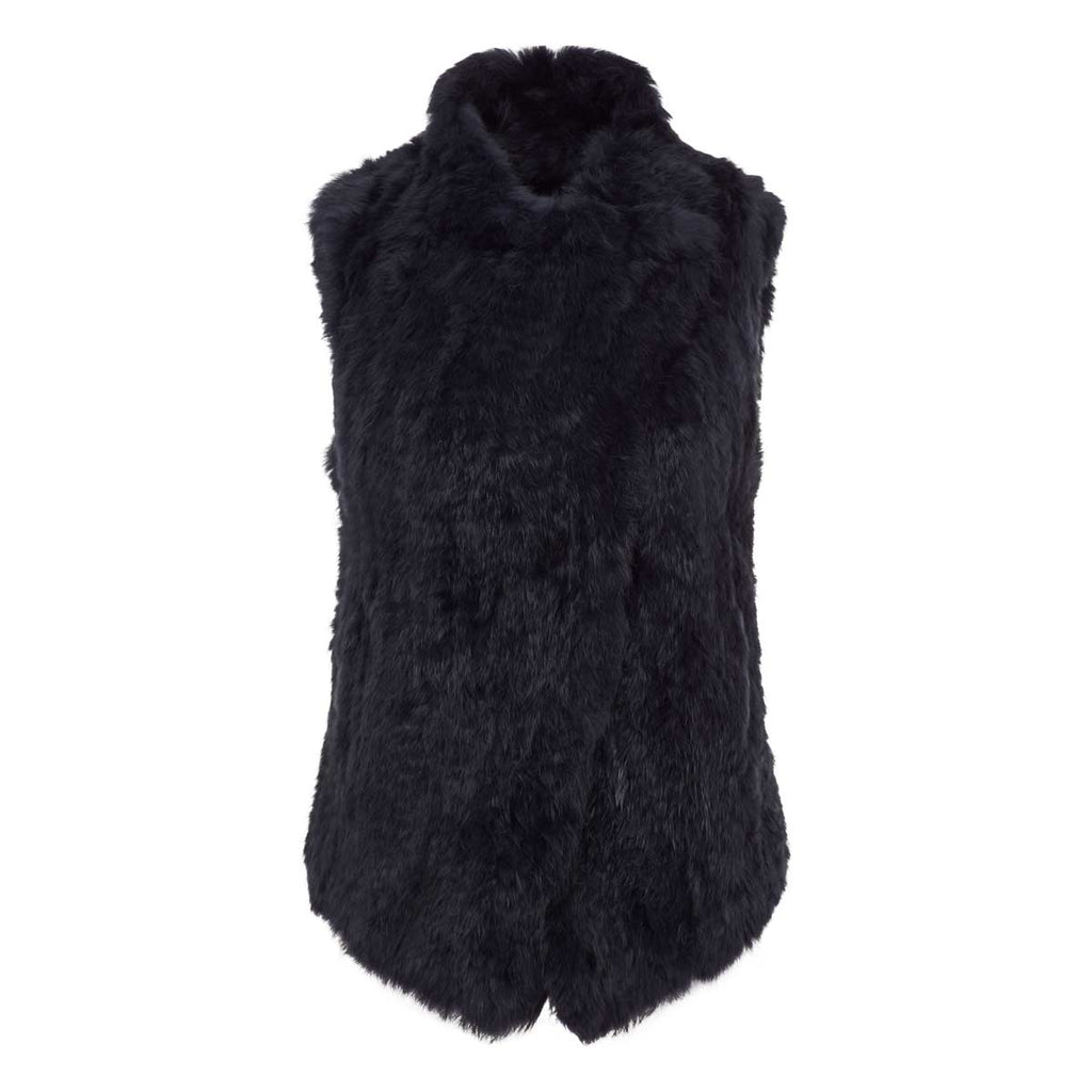 ALBA Knitted fur waterfall gilet