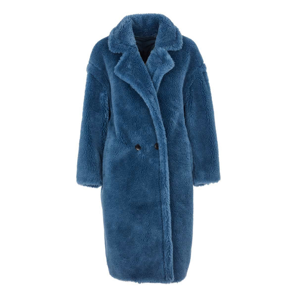 Coco - Lambs wool Teddy coat - Royal blue