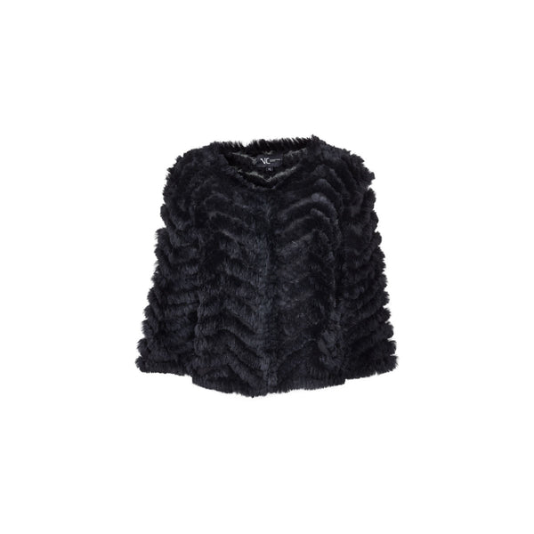 Holly - Black fur bolero