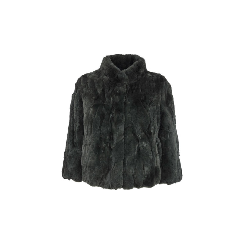 Jody - Antique Green Fur Jacket