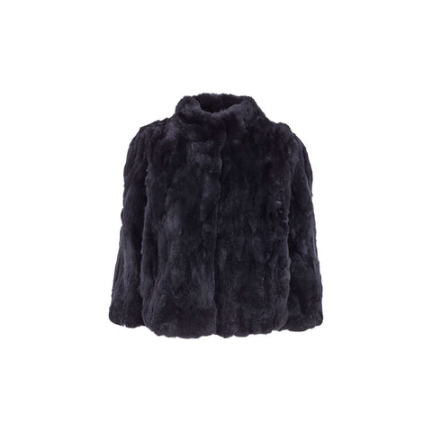 Jody Midnight Blue Fur Jacket