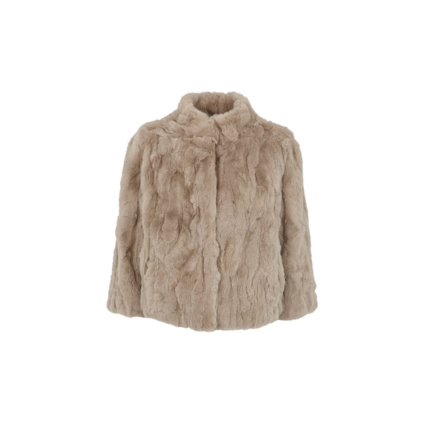 Jody - Simple Taupe Fur Jacket