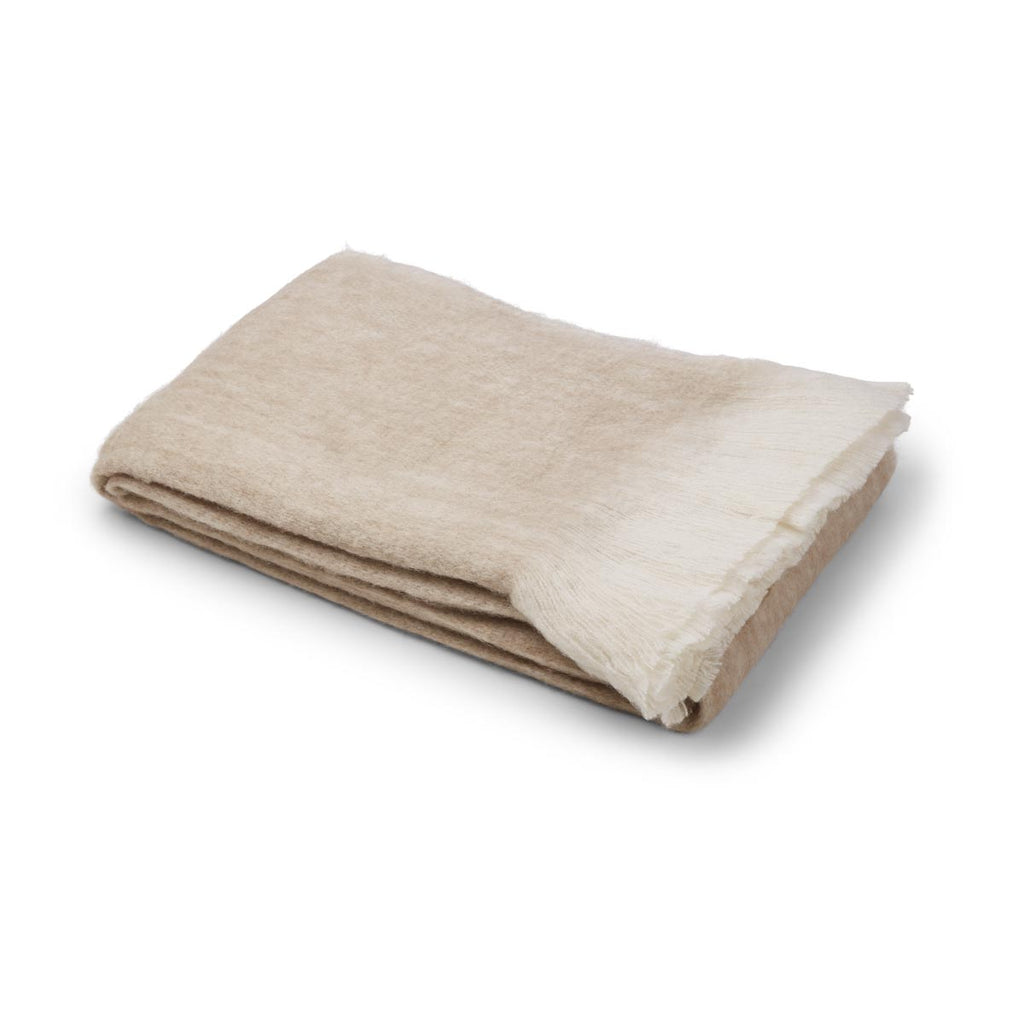 Mohair Throw light beige
