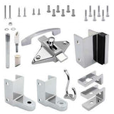 Jacknob Toilet Partition - Door Hardware with Pivot Hinges
