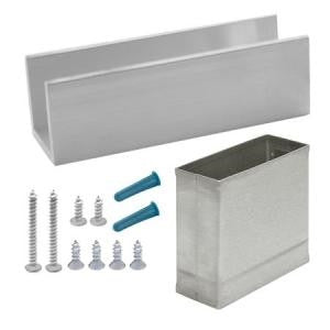 "Jacknob Toilet Partition - Pilaster Shoe Pack - 4"" x 1-1/4"""