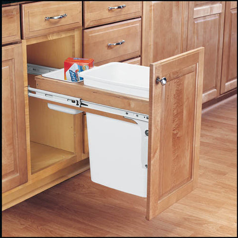 Rev-A-Shelf Single Top Mount Rev-A-Motion Wood Waste Containers