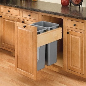 Double Top Mount Rev-A-Motion Wood Waste Containers