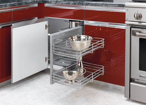 Blind Corner Cabinet Pull-Out Chrome 2-Tier