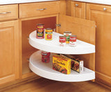 "Rev-A-Shelf Lazy Susan 33"" Diameter, Left or Right Door Mount - White"