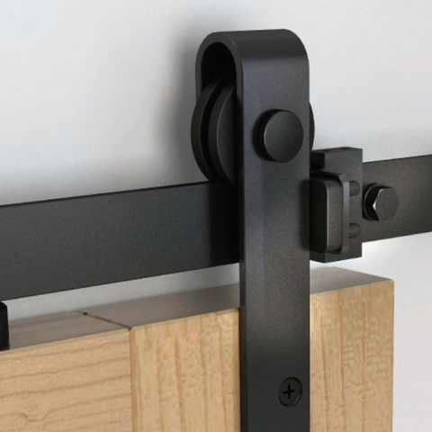 Mini Flat Rail Barn Door Hardware Surface Mount