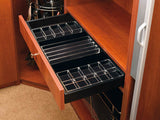 Rev-A-Shelf Drawer Accessories Undermount Jewelry Drawer with Soft-Close for Closet