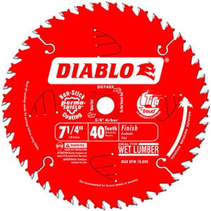 "Freud Diablo D0740X 7-1/4"" x 40 Tooth Finishing Saw Blade"