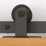 Flat Rail Barn Door Hardware Top Mount