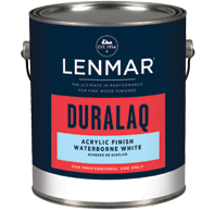 Lenmar DuraLaq-WB Waterborne White Acrylic Finish (1WB.20X series)