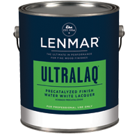 Lenmar UltraLaq Water White Precatalyzed Topcoat (1D.33x series)
