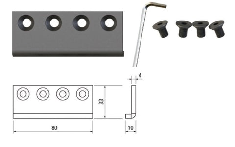Barn Door Rail Connector for Flat Rail