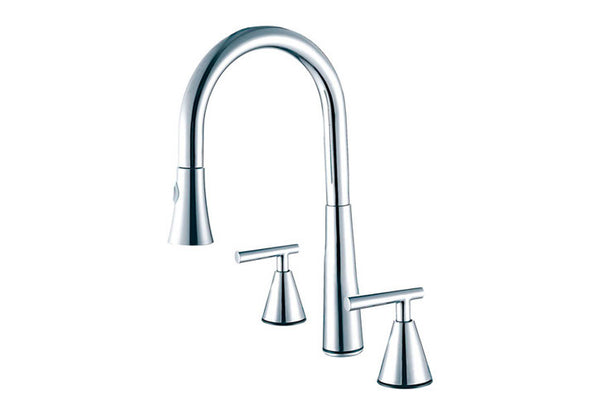Stainless Steel Two Handles Kitchen Faucet (DAX-C01302)