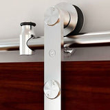 Soft Close Round Rail Barn Door Hardware Surface Mount