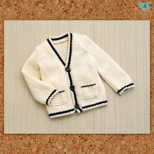 School Cardigan / Mini (White)
