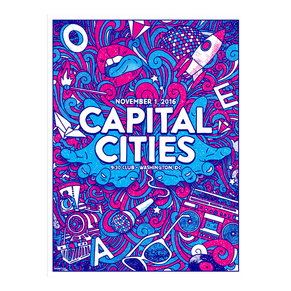 Capital Cities - Washington, DC Poster