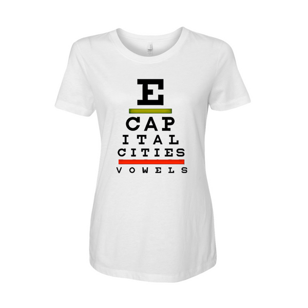 Capital Cities - Eye Exam Ladies T-Shirt