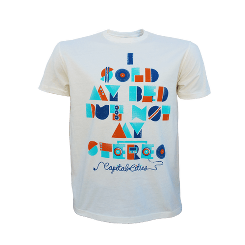 "T-Shirt - Mens ""I Sold My Bed But Not My Stereo"" Tee"