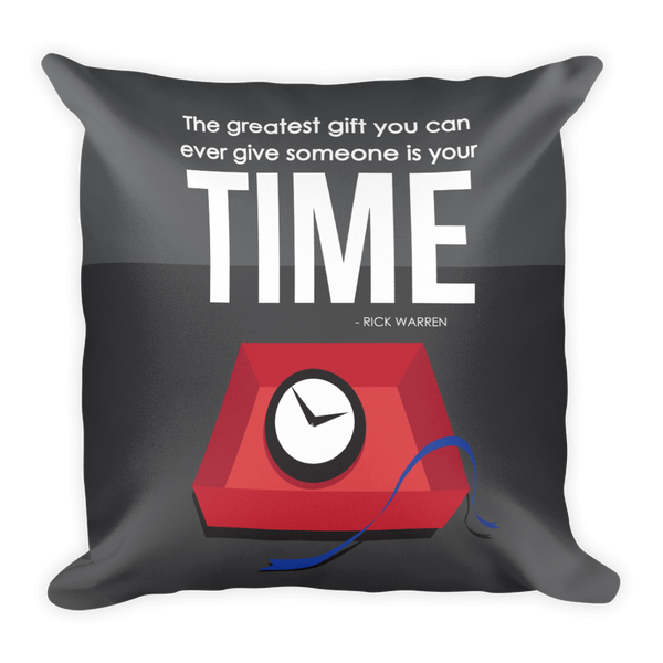 Gift of Time Pillow