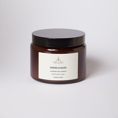 Earl of East Soy Wax Large Candle - Smoke & Musk - Smith & Brit Boutique and Spa