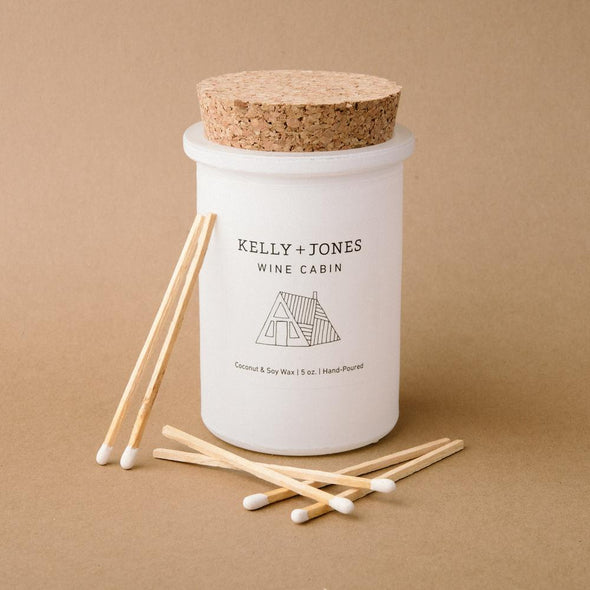KELLY + JONES WINE CABIN CANDLE - Smith & Brit Boutique and Spa