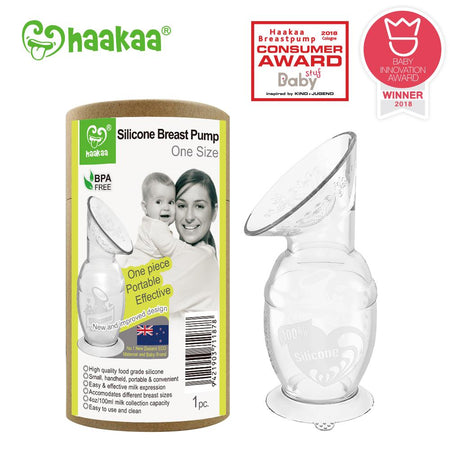 Haakaa - Silicone Breast Pump with Suction Base (100ml) - Babyonline