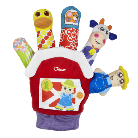 Chicco Baby Farmyard Animal Finger Puppet Glove