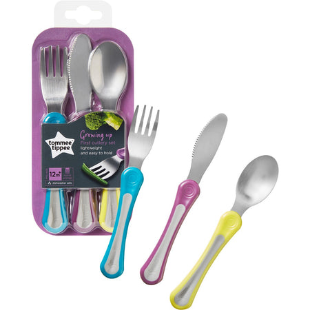 Tommee Tippee Growing Up First Cutlery Set 12m+ - Babyonline