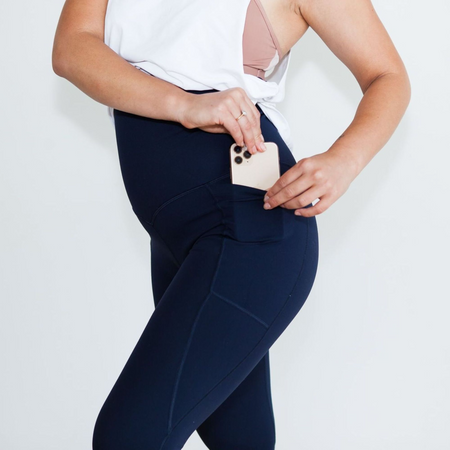 Milkbar Active Leggings | Extra High Waist 7/8 | NAVY