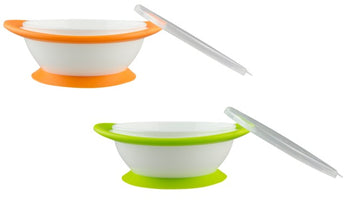 NUK No-Mess Weaning Bowls 6m+ - Pack of 2 - Babyonline