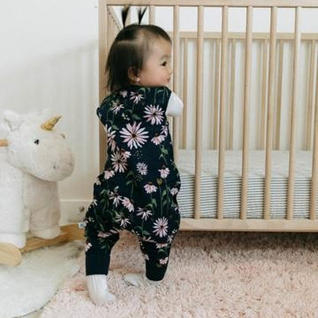 Little Unicorn Cotton Muslin Sleep Romper - Dark Coneflower
