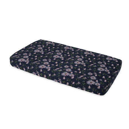 Little Unicorn Cotton Muslin Cot Sheet - Dark Coneflower