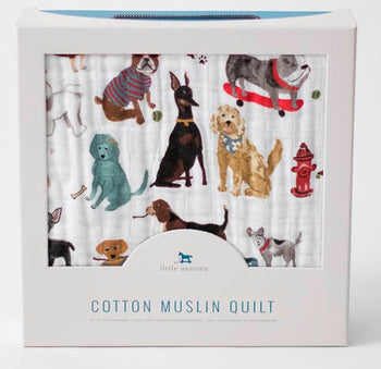 Little Unicorn Muslin Quilt DOGS - Babyonline