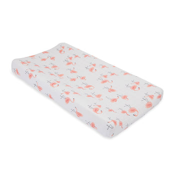 Little Unicorn Muslin Changing Pad Cover - Pink Ladies