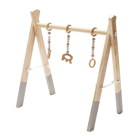 Kapai Wooden Play Gym - Natural & Grey