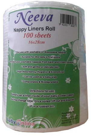 Neeva Nappy Liners Roll - 100 sheets