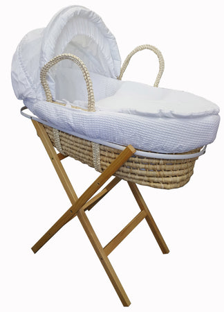 Cross Wooden Stand for Moses Basket - NATURAL (QN1904) - Babyonline