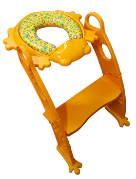 Toilet Training Seat with Step Ladder (PM2697) - BEE - Yellow - Babyonline